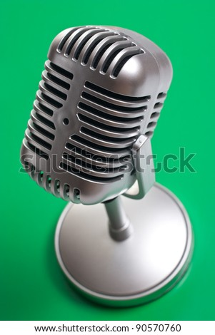 Classic microphone isolated over white