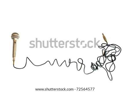 Classic Microphone over white background