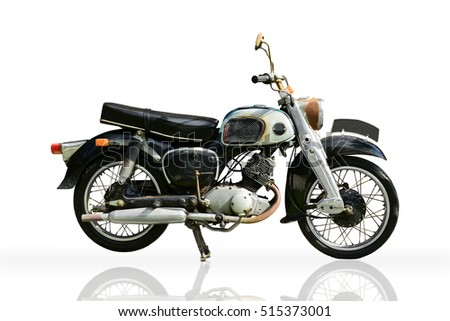 classic motorbike isolated on...