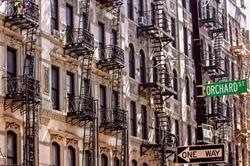 Classic New York Tenement Buildings.