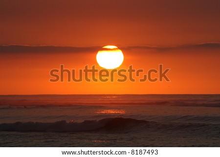 Classic ocean sunset.