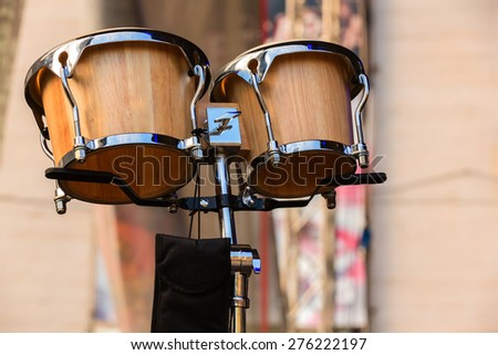 Classic of drums set for a symphony concert