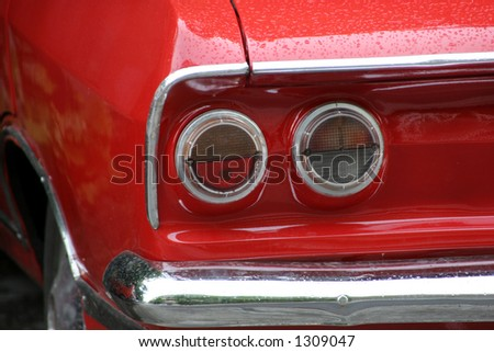 classic old red a car