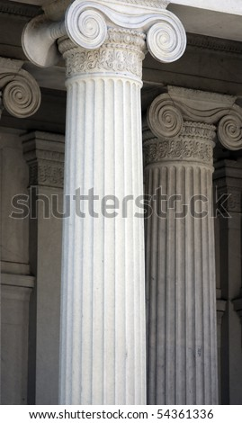 Classic Ornate Columns of US Department of The Treasury