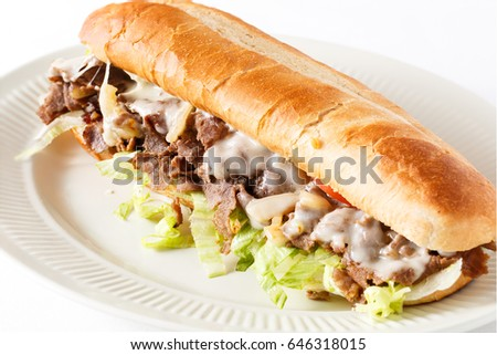 Classic Philly Steak and Cheese Sub
