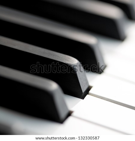 classic piano close up