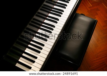 classic piano ready for music concert