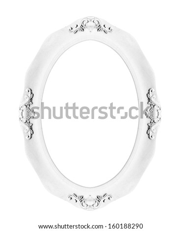 Classic picture frame isolated on white background