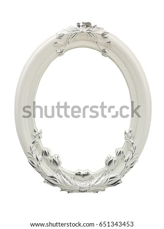 classic picture frame with white background.