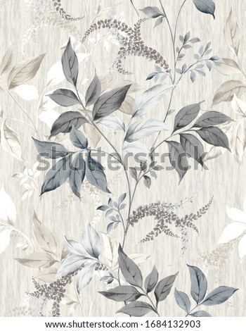 Classic Popular Flower Seamless pattern background - For easy making seamless pattern use it for filling any contours