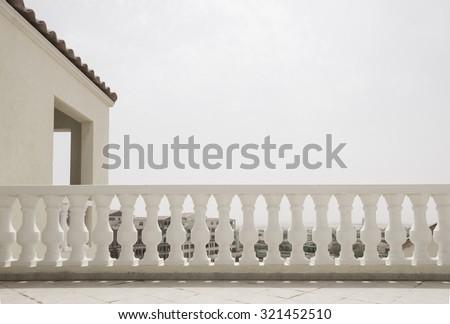 classic railing design on the...