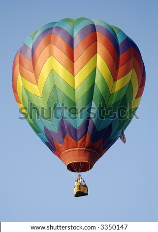 Classic Rainbow Stripes Hot Air Balloon