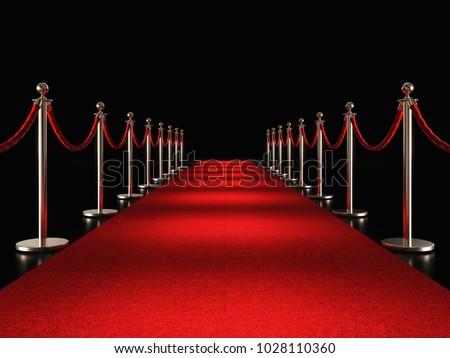 classic red carpet 3d rendering image