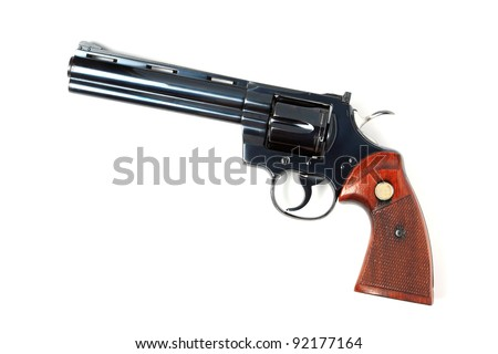 classic revolver, cowboy style isolated.