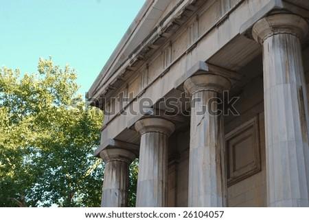 Classic Roman Columns in Historic Corporate District
