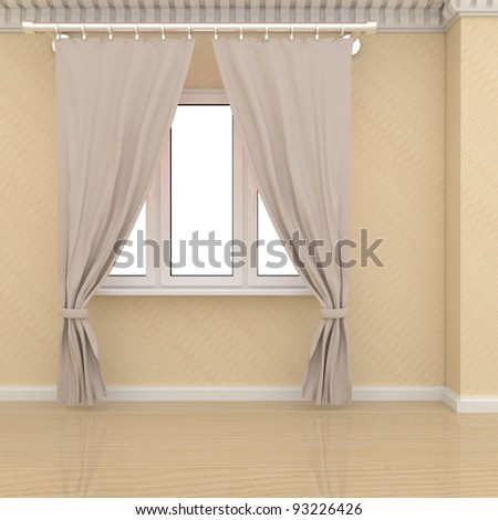 classic room with classic curtains