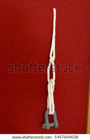 Classic sailors knots in the Maritime Museum, Split, Croatia #1447644038