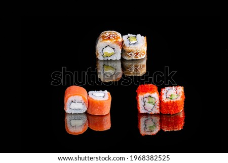 classic set, roll Philadelphia, California Roll, nagi onigara roll Stock fotó ©