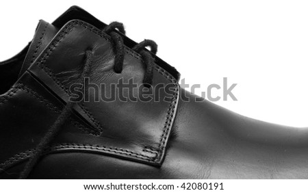 Classic shiny black men's shoes