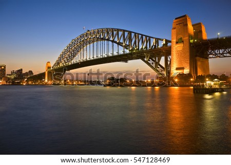 classic shot of sydney harbour...