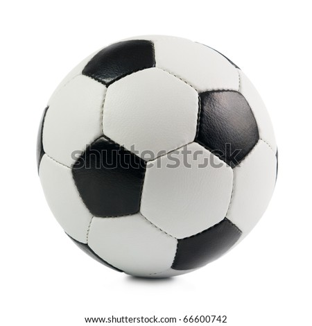 Classic Soccer Ball. Isolated on white background.
