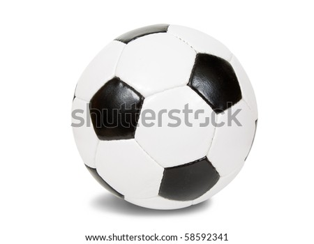 classic soccer ball. Isolated over white background with clipping path