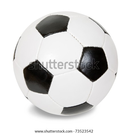 classic soccer ball. Isolated over white with clipping path