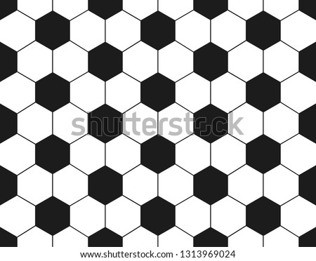 Classic soccer ball seamless pattern. Football leather balls background
