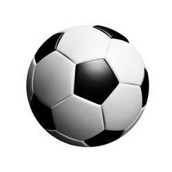 Classic soccerball isolated on white background