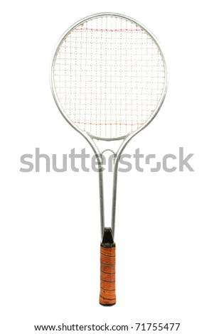Classic Tennis Racket Isolated on a White Background