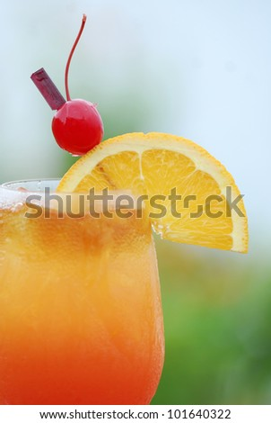 Classic Tequila Sunrise cocktail