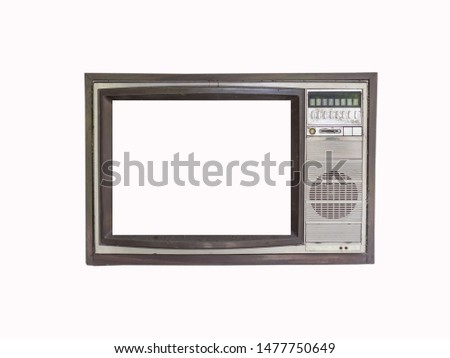 Classic Vintage Retro Style old television old television on isolated background. #1477750649