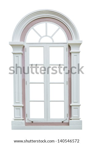 Classic window frame isolated on white background stock for Classic window design