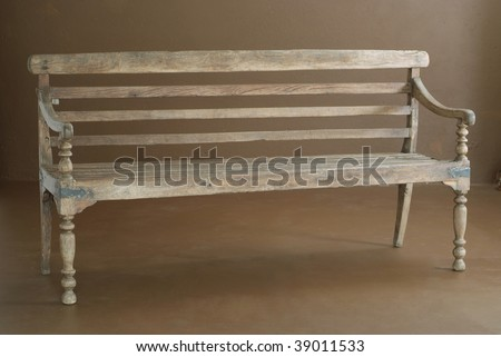 Classic wooden bench interior