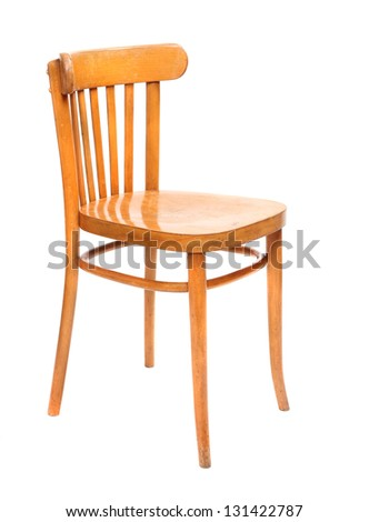 Classic wooden chair on a white background. #131422787