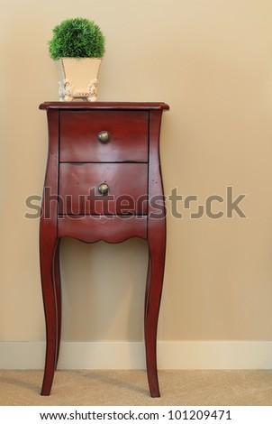 Classic wooden dresser.