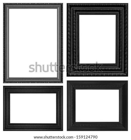 classic wooden frame isolated...
