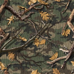 CLASSIC WOODS CAMOUFLAGE SEAMLESS PATTERN