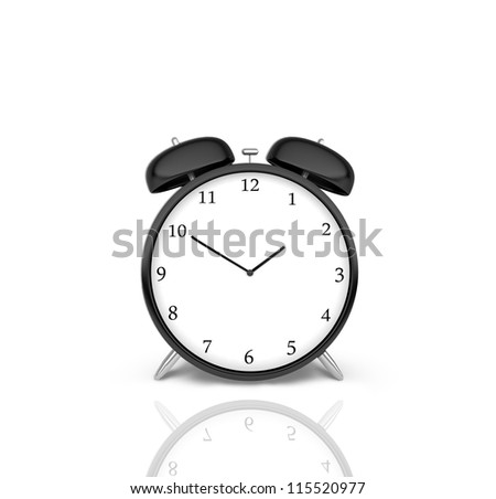 classical alarm clock  on a white background