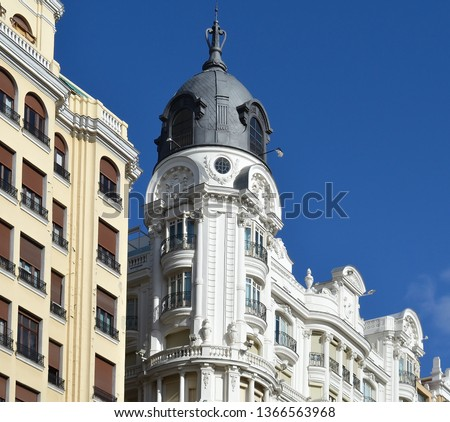 Classical architecture in Madrid, Spain #1366563968