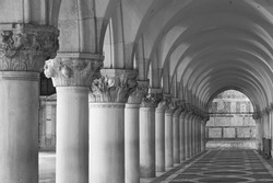 Classical Architecture in Saint Marks Square, Venice, Italy
