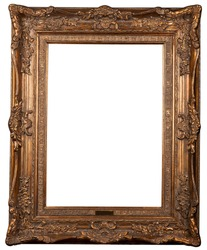 Classical carved frame on a white background