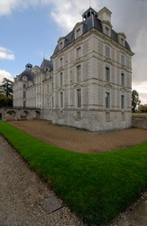 Classical chateau in Cheverny, France.