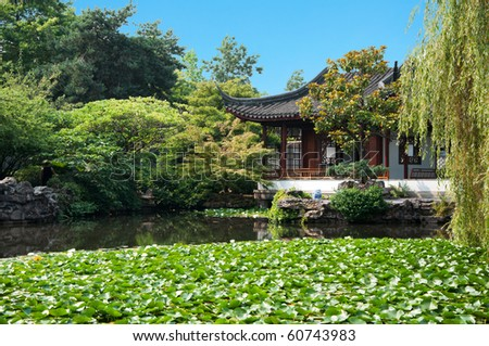 Classical Chinese Architecture at the Dr. Sun Yat-Sen Classical Chinese Garden in Vancouver, Canada.
