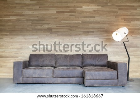 Classical design and luxury style of the leather sofa