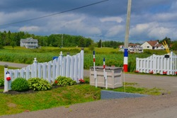 Classical garden fence of a rural Acadian town, New Brunswick