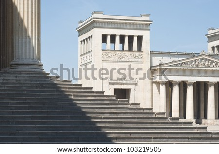 Classical Greek Architecture with Steps in the Italian style