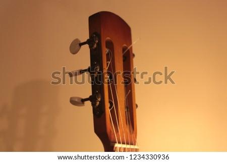 Classical Guitar Headstock - Shutterstock ID 1234330936