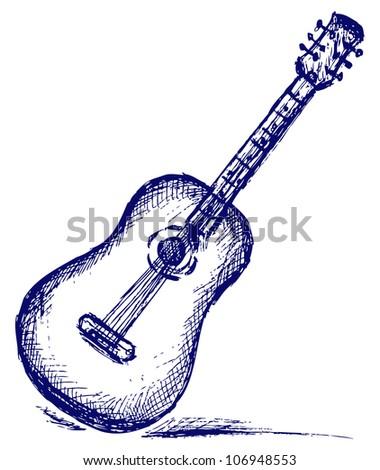 Classical guitar. Raster