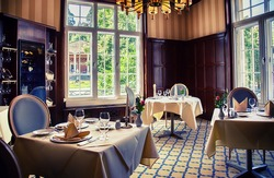 classical interior of German restaurant